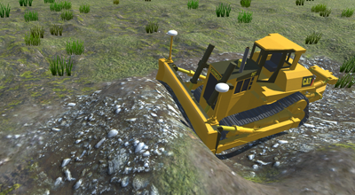 D10 Dozer pushing dirt